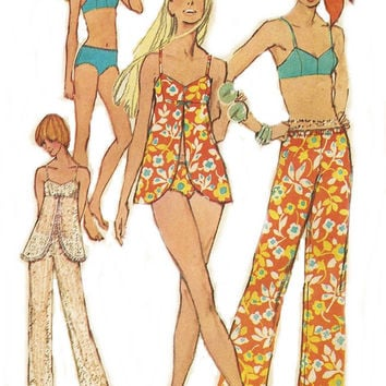 Vintage Sewing Pattern Simplicity 8795 Misses Bathing Suit and Hip Hugger Original not a Repro Misses Size 12 Bust 34