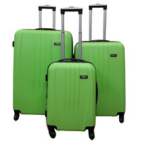 Travel Time Black 3 piece Hardshell Luggage Spinner Set