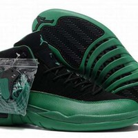 Cheap Air Jordan 12 XII Retro Men Shoes Black Green