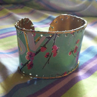 Soda Can Cuff Bracelet  Arizona Green Tea by MyBlackPaperMoon