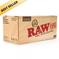 RAW Pre-Rolled Cones King Size - 800 Count