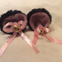 Pink & black Bdsm Clip On Kitten Play Ears