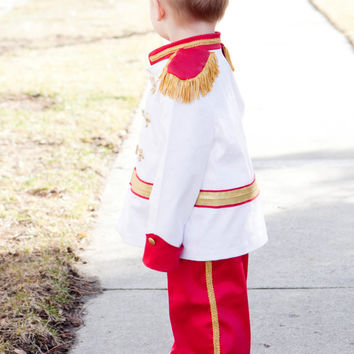 Prince Charming Costume, Disney inspired Prince, Boy or Toddler Outfit, Child Fantasy, Circus Ringmaster, Washable Handmade Dressup Costume