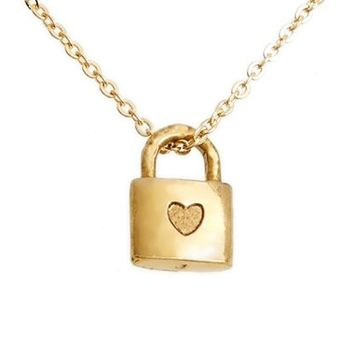 The Giving Keys 'Petite - Heart' 16-inch Lock Pendant Necklace | Nordstrom