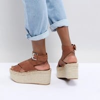 Alohas Vegas Leather Platform Sandal at asos.com