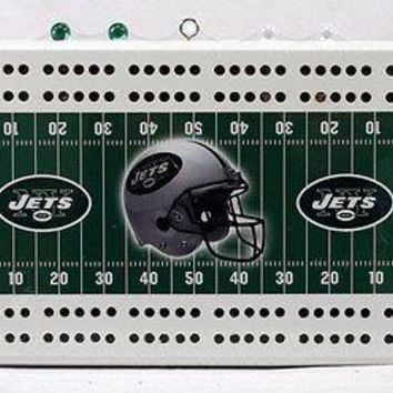 New York Jets NFL 2 Track Cribbage Board
