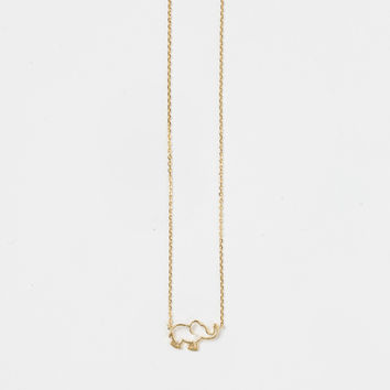 Ellie Elephant Gold Dainty Necklace