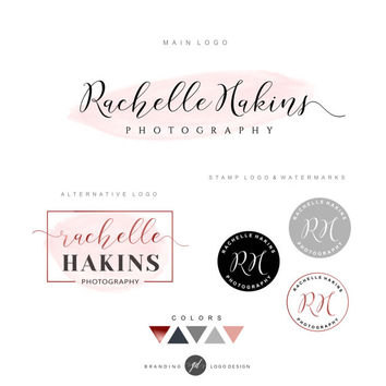 Logo kit, Calligraphy handwritten logo, Photography logo design Premade logo Branding kit Watermark, business logo, signature, Stamp Logo 03