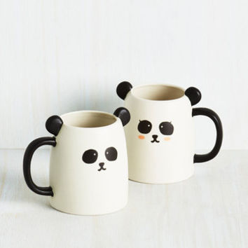 Critters Wake Up Panda Smell the Coffee Mug Set by ModCloth