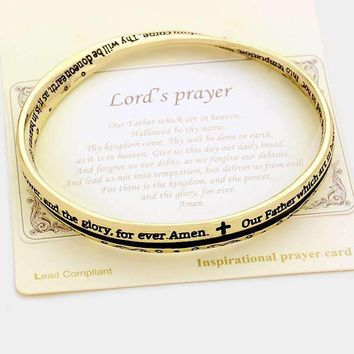 """Lord's Prayer"" Religious Message Bracelet"