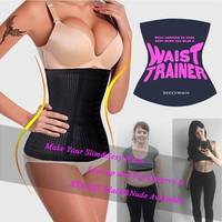 JOYMODE Christmas Gifts XXS-6XL Slimming Body Waist Tummy Trimmer Black 4 Steel Bone Women's summer breathable Waist Trainer Cincher Tummy Belt Sport Underbust Control Corset Body Shaper Black Shapewear Girdle belt [9714857167]
