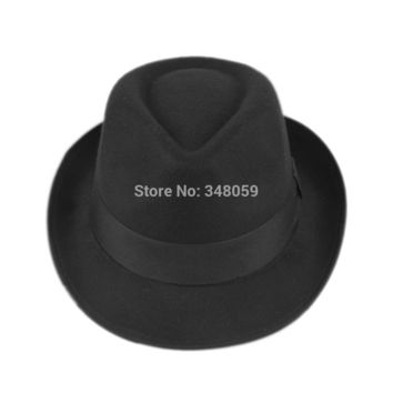 Unisex Men Women Wool Cotton fedora hat Cappelli Jazz Felt Ribbon Band Panama Hat Gangster Cap
