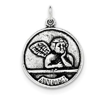 Sterling Silver Antiqued Raphael Angel Pendant