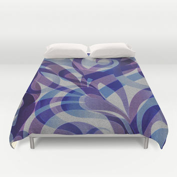 Floral Abstract G287 Duvet Cover by MedusArt