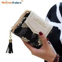Excellent Quality Womens Wallet Leather Vintage Womens Bifold Money Bag Card Holder Bifold Female Wallet Purse