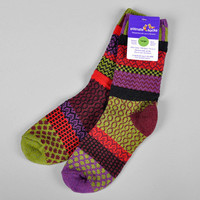 """COVERED BRIDGES"" RECYCLED COTTON SOCKS :: HICKOREE'S HARD GOODS"