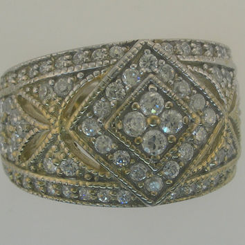 Ladies New 1.10 ct Genuine Diamond Right Hand Cluster Ring 14kt White or Yellow Gold Sizes 4-9