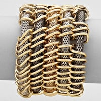 Layered 5 Row Bracelet Swivel Multi
