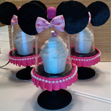 MINNIE'S CUPCAKE STAND....(set of 4)  mini cupcake stands