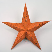 Embroidered Spirals Paper Star Lantern