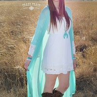 Mint Sheer Duster - The Marble Gypsy