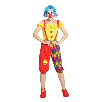 Umorden Purim Carnival Halloween Party Circus Clown Costumes Women Adult Clown Cosplay Costume Set for Woman Suspender