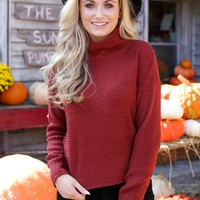Weekend Getaway Cropped Turtleneck Sweater