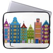 City Street Folk Art on Laptop Sleeve