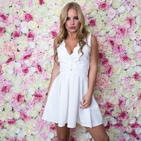 Something Special Scallop Dress In White