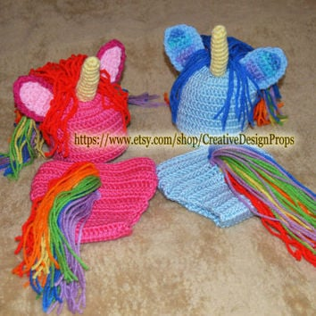 Shop Crochet Rainbow Hat On Wanelo