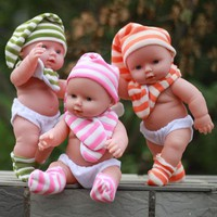 DCCKL72 Soft dolls Talking baby toy silicone reborn dolls Into the water for bathing baby Children's educational toys Children's gift