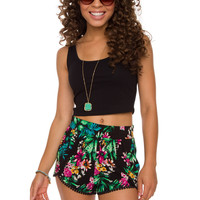 My Sharona Tropical Shorts - Black