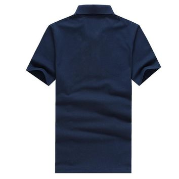 summer style men collar polo shirt men clothing solid mens polo shirts business casual