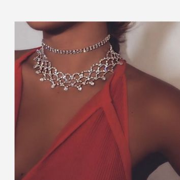 The new diamond-studded necklace