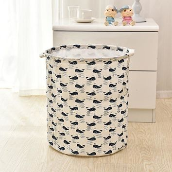 35*40cm New Creative Waterproof Storage Basket Bag Toy Dirty Laundry Basket Bag Clothes Toys Storage Box Sundries Fabric Folding