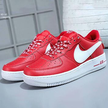 NIKE AIR FORCE 1 '07 LV8 Air Force No. 1 Men's Sports Casual Shoes F-A-FJGJXMY red