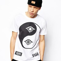 Anticulture T-Shirt with Ying Yang Front and Back Print