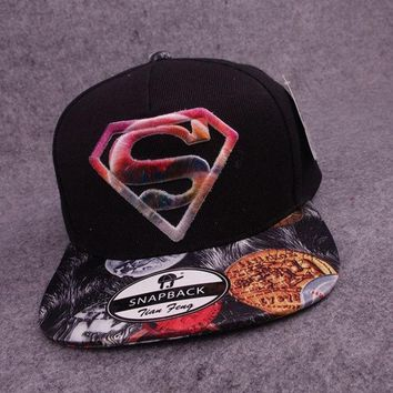 PEAPIX3 2015 new superman baseball caps hip-hop style hats black (Color: Black) = 1946757892