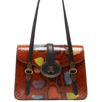Mazzaluna python and leather shoulder bag | Bottega Veneta | MATCHESFASHION.COM US