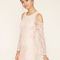 Lace Open-Shoulder Dress