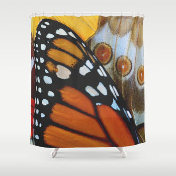 Shower Curtain - Butterfly Shower Curtain - Butterfly - Nature Shower Curtain - Woodland - Monarch Butterfly - Rustic Shower Curtain
