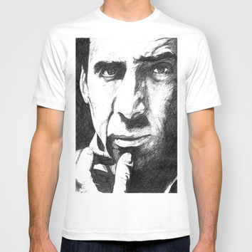 Nicolas Cage T-shirt by DeMoose_Art