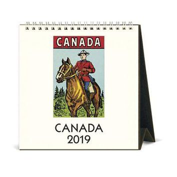 Canada Easel Desk Calendar, Canada by Cavallini Papers & Co.