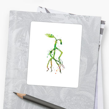 'Bowtruckle' Sticker by MonnPrint