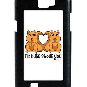 Cute Squirrels - I'm Nuts About You Galaxy Note 2 Case by TooLoud