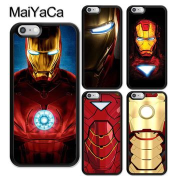 MaiYaCa Ironman Super Heros Marvel Printed Soft Rubber Mobile Phone Case OEM For iPhone 6 6S Plus 7 8 Plus X 5 5S SE Back Cover