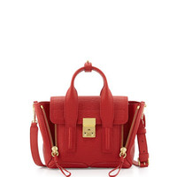 3.1 Phillip Lim Pashli Mini Leather Satchel Bag, Red