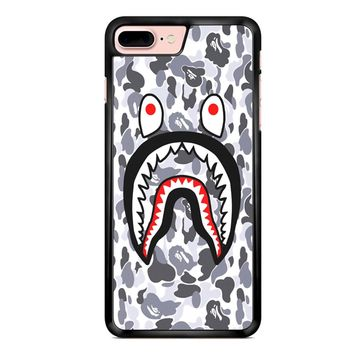 Bape Shark Face White Camo iPhone 7 Plus Case