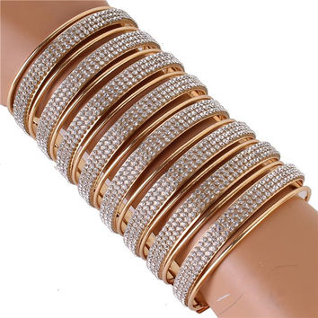 "4.90"" wide crystal open cuff bracelet bangle"