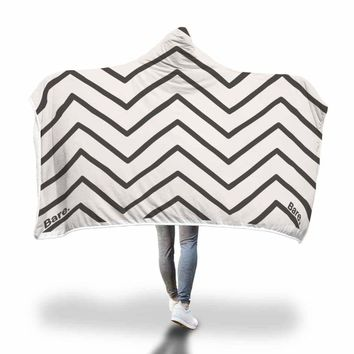 Zig Zag Pattern Hooded Blanket by Bare Culture Apparel
